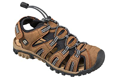 c59f585697a3 Gibra® Mens Trekking Sandals With Velcro Fastening - Brown - Size 41 - 46   Amazon.co.uk  Shoes   Bags