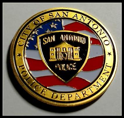 San Antonio Police Department Colorized Challenge Art Coin