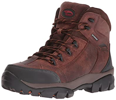 Avenger Safety Footwear Men's Avenger 7644 Leather Waterproof Soft Toe No  Metal EH Hiker Industrial and