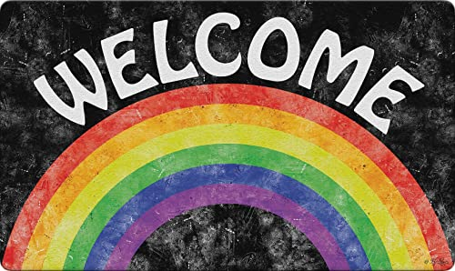 Toland Home Garden 800452 Welcome Rainbow Doormat, 18 x 30 , Multicolor