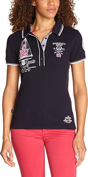 Geographical Norway Kristy, Polo para Mujer, Azul (Navy) S ...