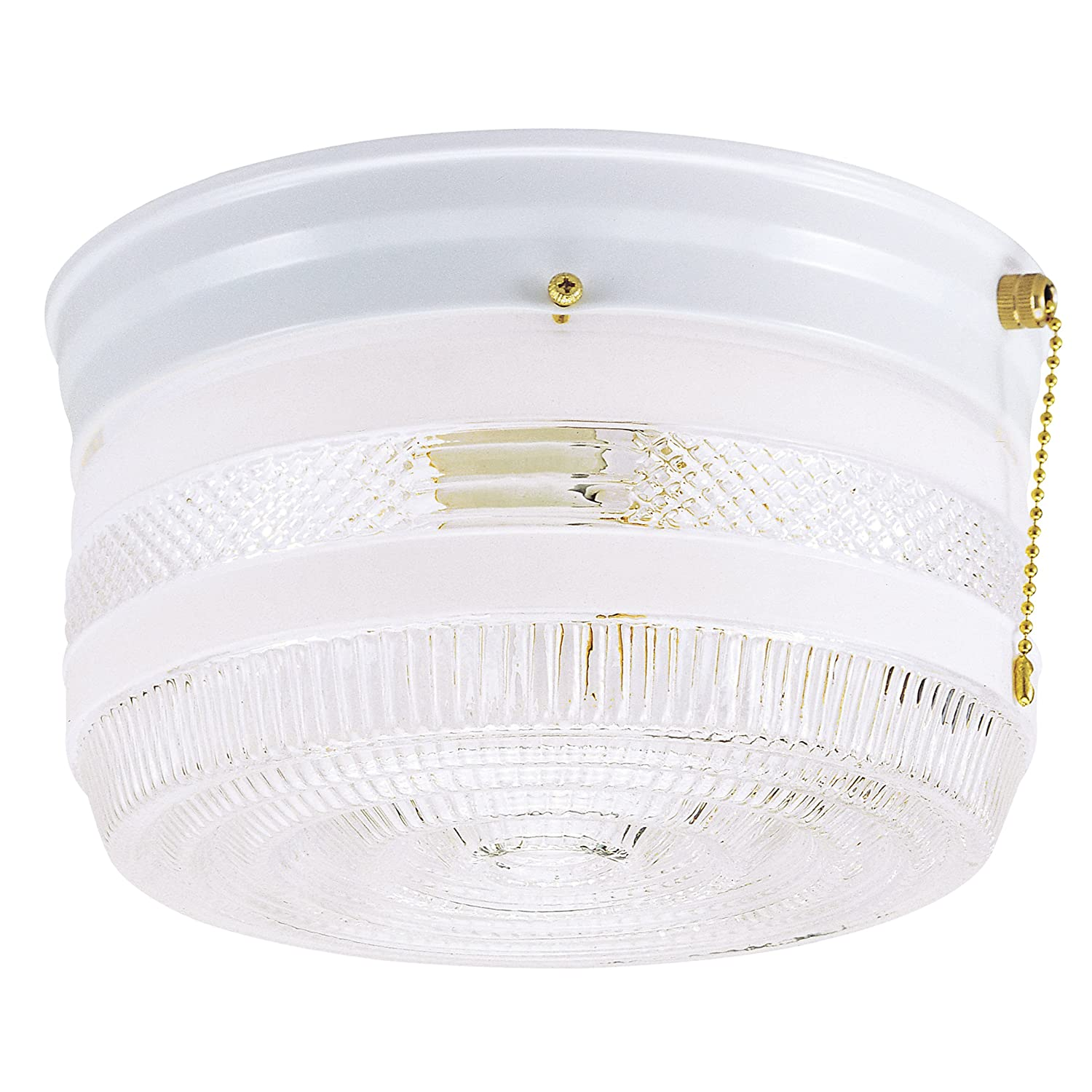 Amazon westinghouse 6734500 two light flush mount interior amazon westinghouse 6734500 two light flush mount interior ceiling fixture with pull chain white finish with white and clear glass home improvement arubaitofo Image collections