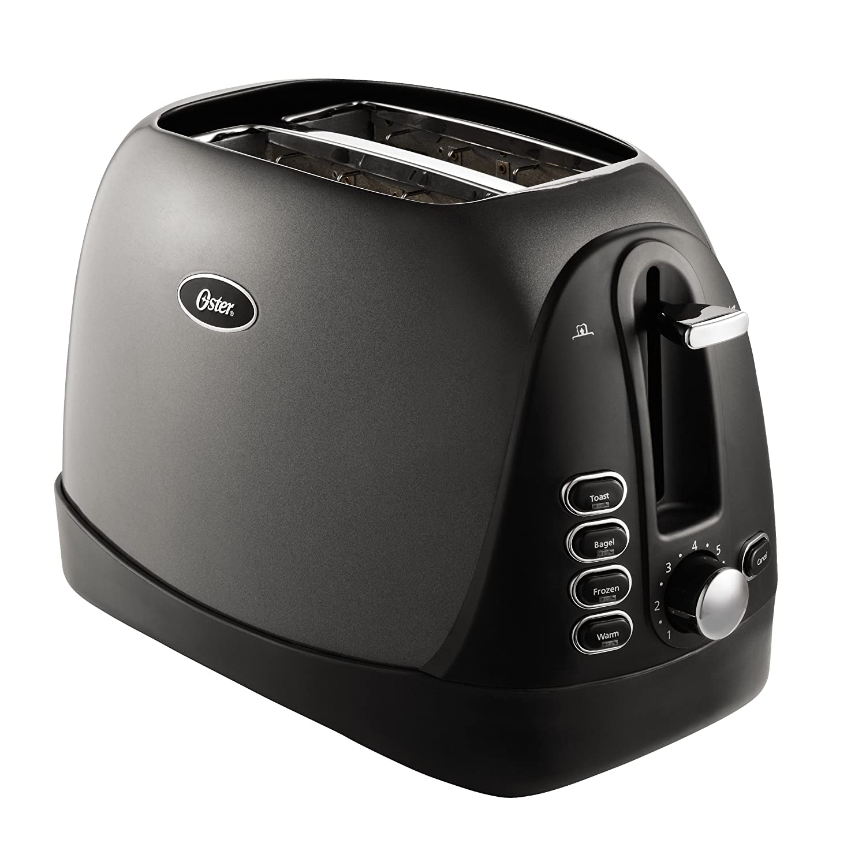 Metallic Grey Oster 2-Slice Toaster TSSTTRJBG1