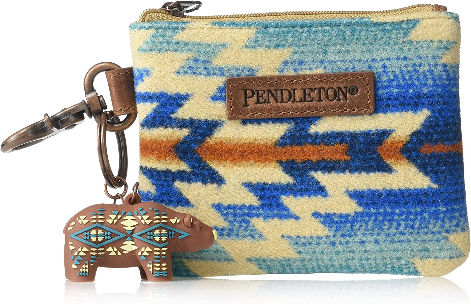 Pendleton Mens ID Pouch with Bear Keychain