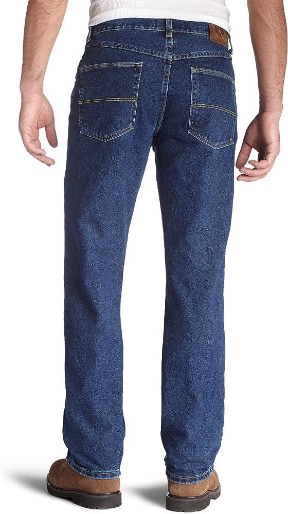2f5d1b66 Wrangler Men's Regular Fit Jeans, Dark Denim, 29W x 30L. Back. Double-tap  to zoom