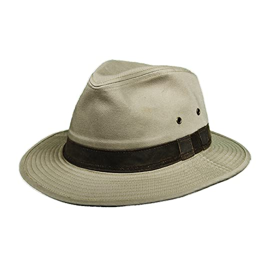 7a5a2c9ef3c Dorfman Pacific Garment Washed Twill Safari with Weathered Cotton Hat (L)