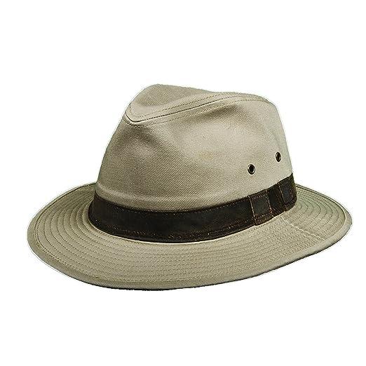 Dorfman Pacific Garment Washed Twill Safari with Weathered Cotton Hat (L) 4dd4c68f8ec8