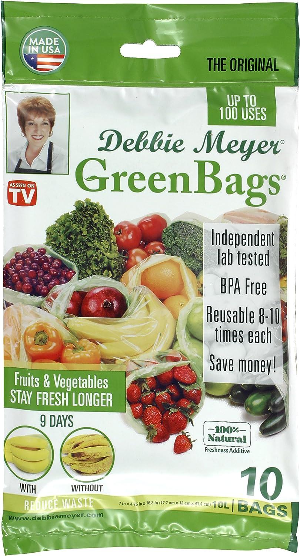 Debbie Meyer GreenBags Freshness-Preserving Food/Flower Storage Bags (Large, 10-Pack)