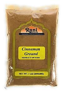 Rani Cinnamon Powder (Ground) Spice 7oz (200g) ~ All Natural, Salt-Free | Vegan | No Colors | Gluten Friendly | NON-GMO | Indian Origin