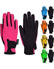 Kids Horse Riding Gloves Children Equestrian Horseback Boys & Girls Pony Youth Outdoor Mitts