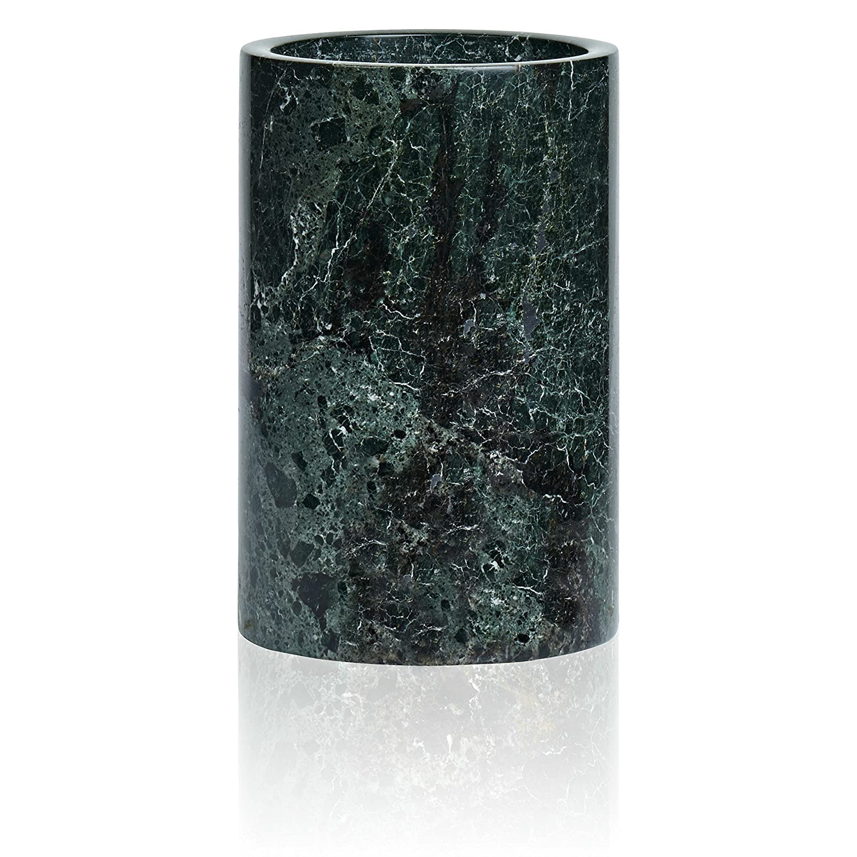 4.5x4.5x7 Enhanced Cooler Also Serves as Kitchen Utensil Set Holder or Flower Vase House Decor Hostess Gift LUXXWARE Premium Black Marble Wine Chiller Dinner Party Birthday Fathers Day