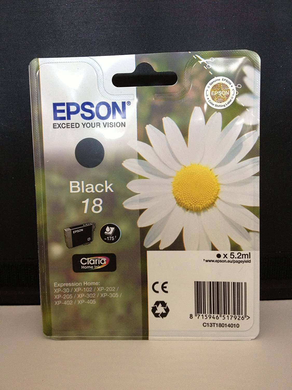 Epson T1801 Schwarz Original Tintenpatrone Elektronik