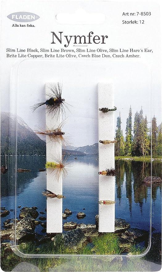 8 Pack Blanc /& Jaune danseurs truite fly Taille 10 Crochet pêche Mouches