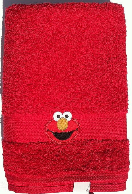 Red ~ ~ Elmo telo da bagno in cotone: Amazon.it: Casa e cucina