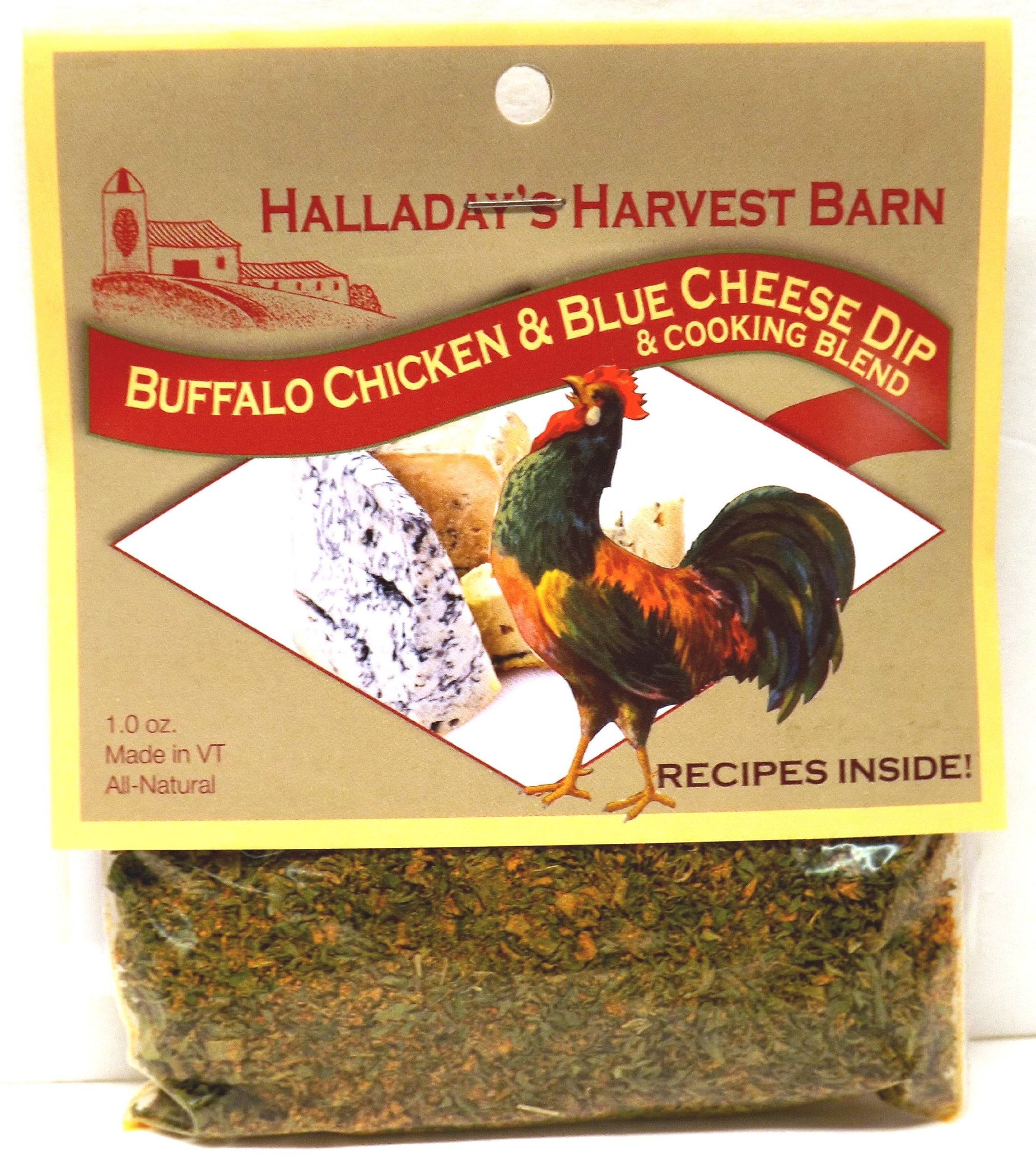 Halladay's Harvest Barn: Buffalo Chicken & Blue Cheese Dip & Cooking Blend (1 oz Bags) 3 Pack by Halladay's Vermont Harvest Barn