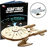 Star Trek The Next Generation: U.S.S. Enterprise Book and 3D Wood Model Kit - Build, Paint and Collect Your Own Wooden Model - Great for Kids and Adults, 12+ - 9""
