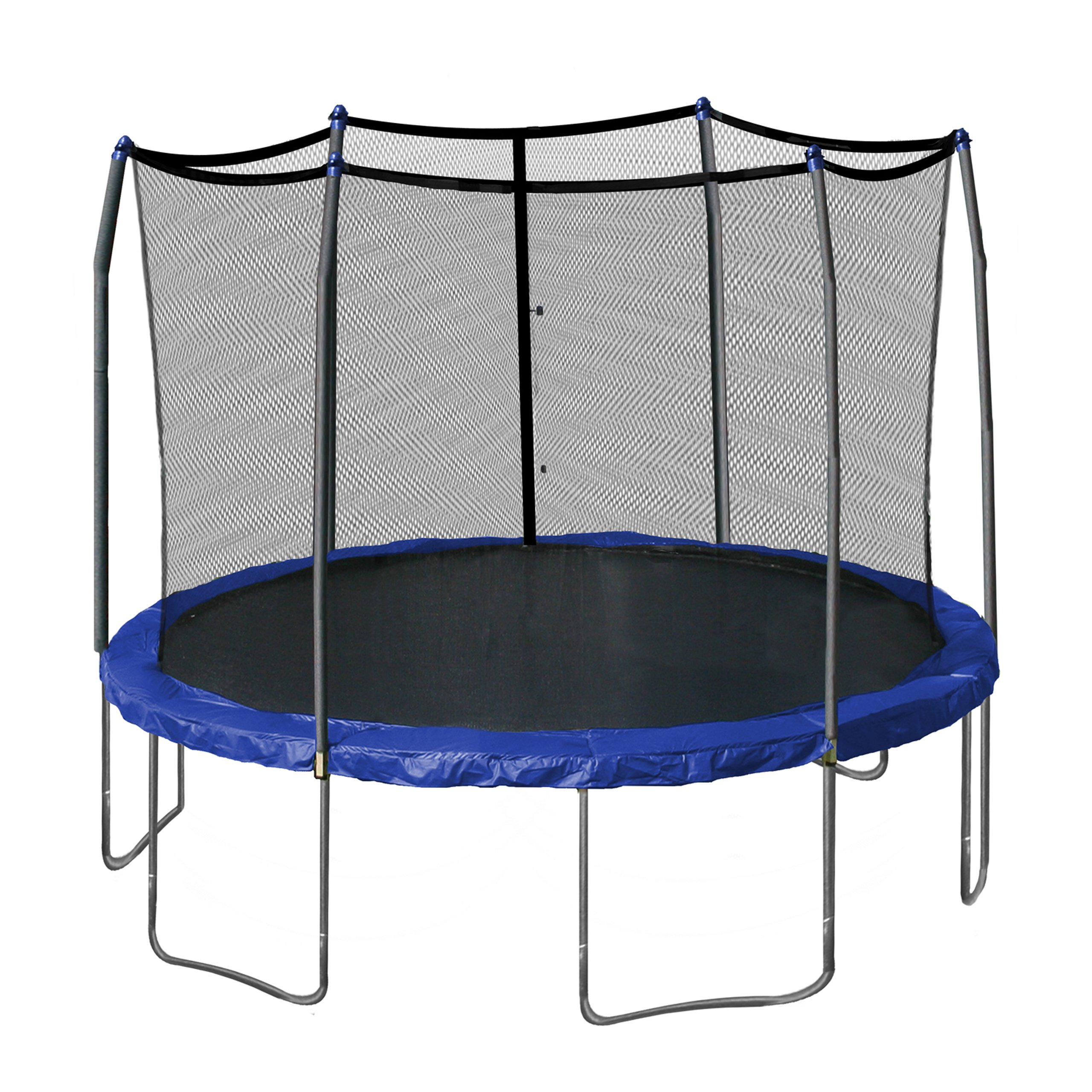 Skywalker Trampolines 12-Feet Round Trampoline and Enclosure with Spring Pad, Blue by Skywalker Trampolines