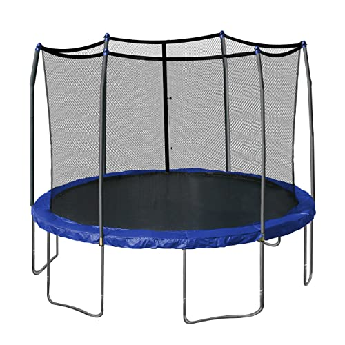 Skywalker-Trampolines-12-Feet-Round-Trampoline-and-Enclosure-with-Spring-Pad