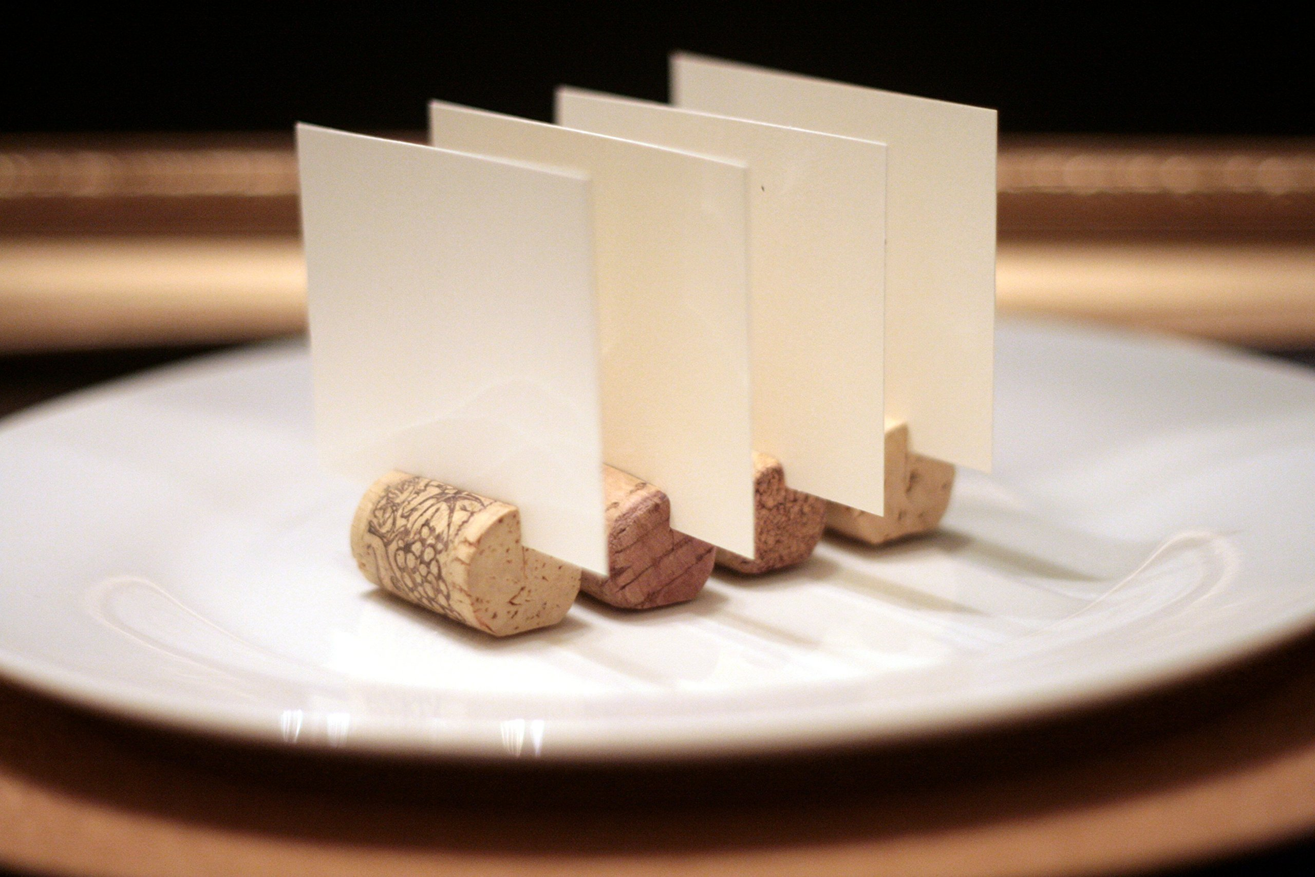 Recycled Wine Cork Place Card Holders Set Of Two Hundred (200), Vineyard Wedding, Rustic Wine Corks