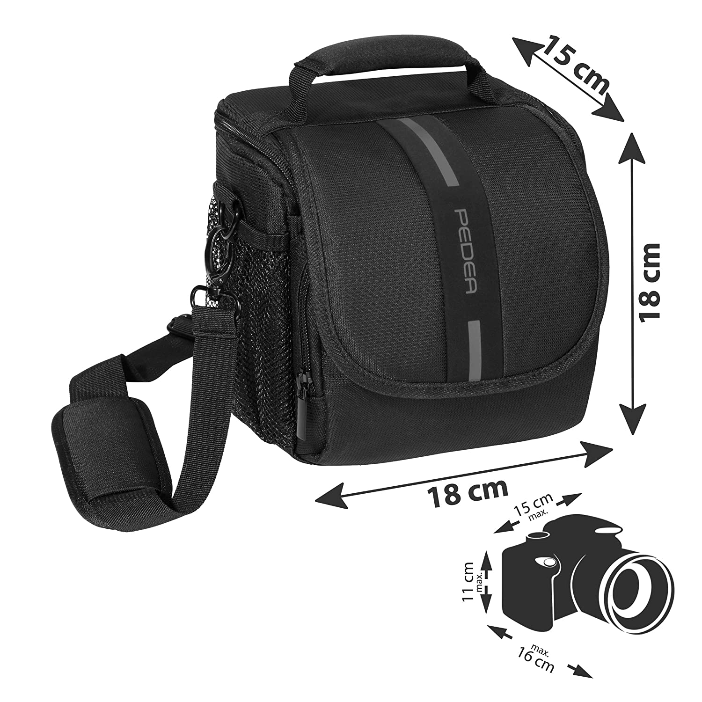 PEDEA GmbH Essex - Bolso para cámara SLR, tamaño M, Color Gris ...