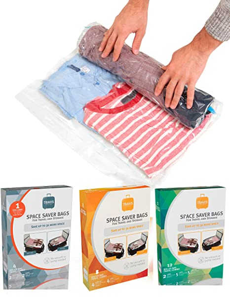 Amazon Com Travis Travel Gear Space Saver Bags No Vacuum Rolling