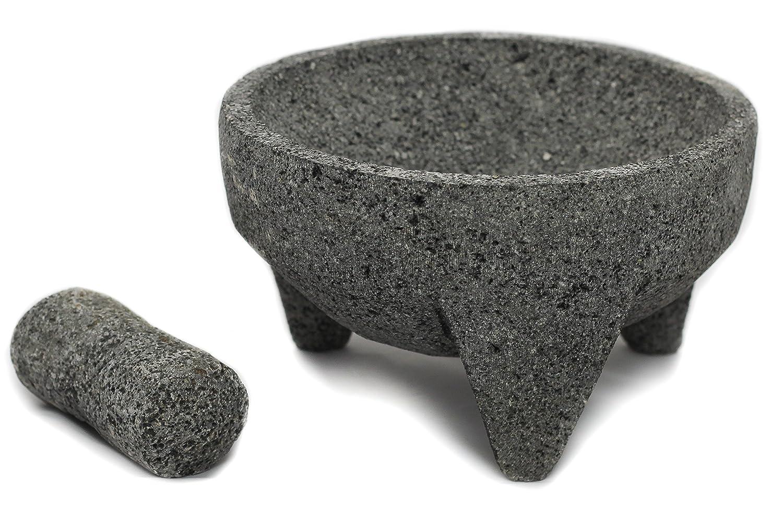 Compra Tumia - Juego de mortero y estuche de lava mexicana (21 cm), Gris, 21 cm en Amazon.es