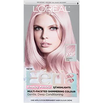 Amazon.com : L'Oreal Paris Hair Color Feria Pastels, P2 Rosy Blush ...