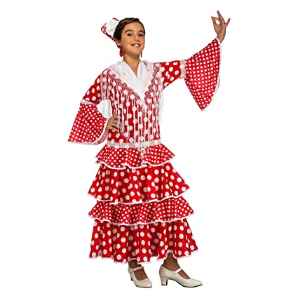 My Other Me Me-203844 Disfraz de flamenca Sevilla para niña, Color rojo, 5-6 años (Viving Costumes 203844