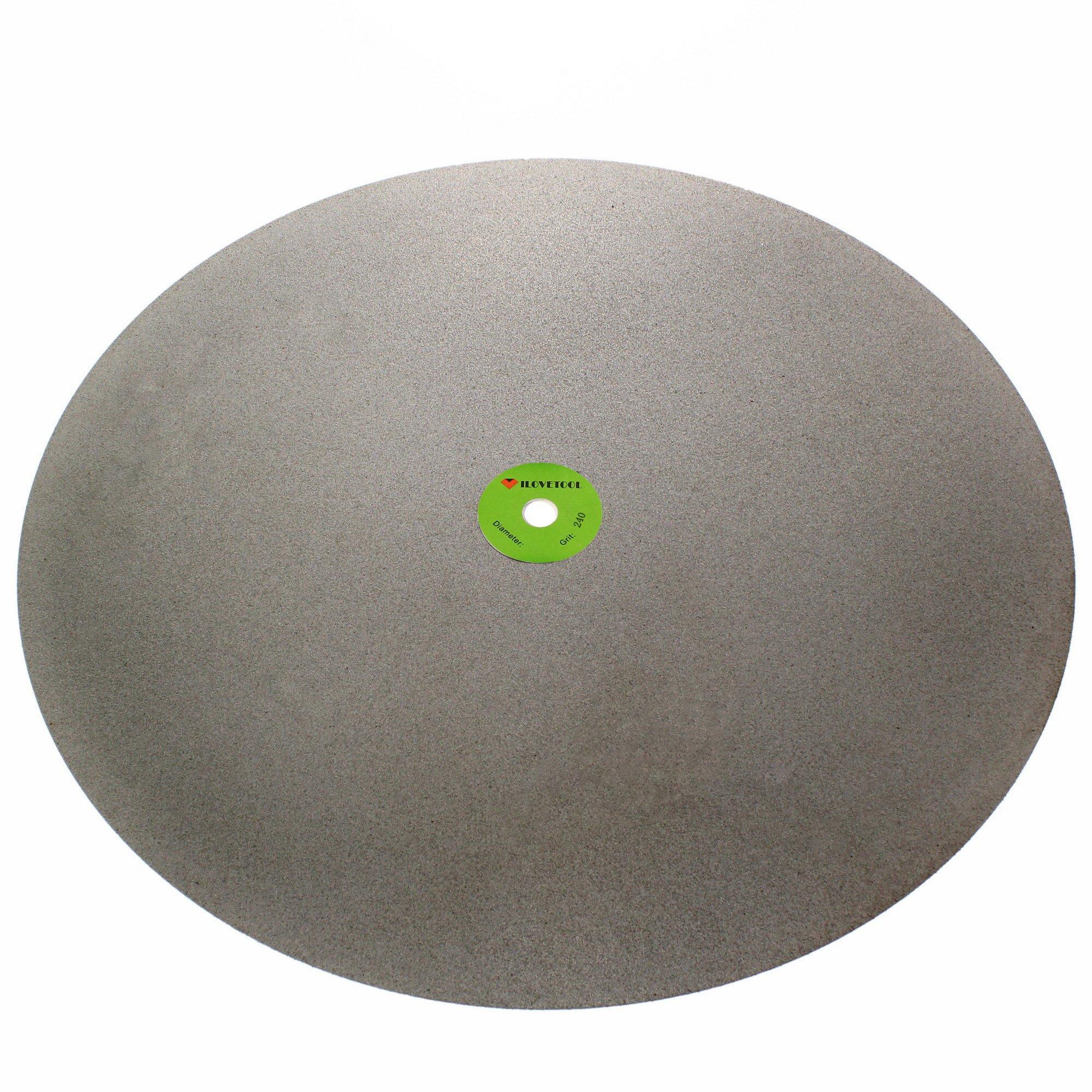 ILOVETOOL 400mm Electroplated Diamond Discs Abrasive Wheel 240 Grit Stone Tools