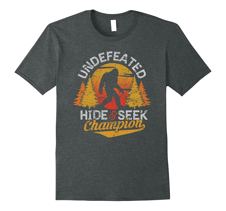 Bigfoot T-shirt Undefeated Hide & Seek Sasquatch Yeti Gift-mt