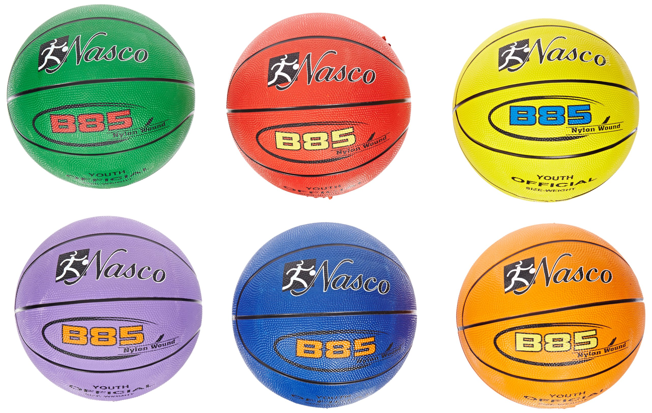 MAC-T 6 Piece Junior Size 5 Basketball Set, 27-1/2'' Size, Assorted Colors by MAC-T