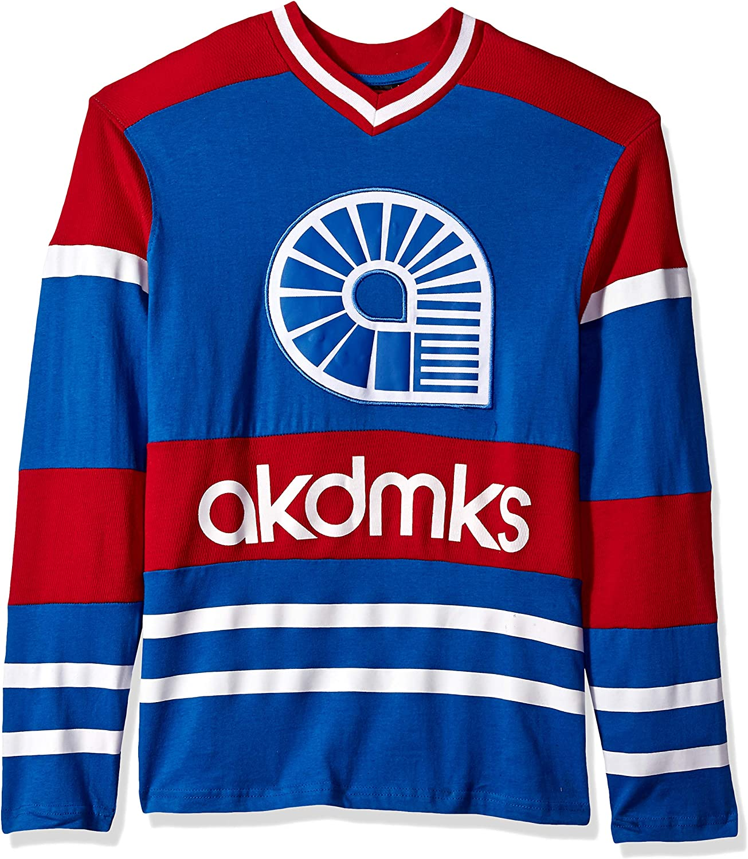 Akademiks Men/'s Long Sleeve V-neck Top Hockey