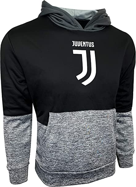 Icon Sports Men Compatible with Juventus Jacket Officially Licensed Pullover Soccer Hoodie Large 024