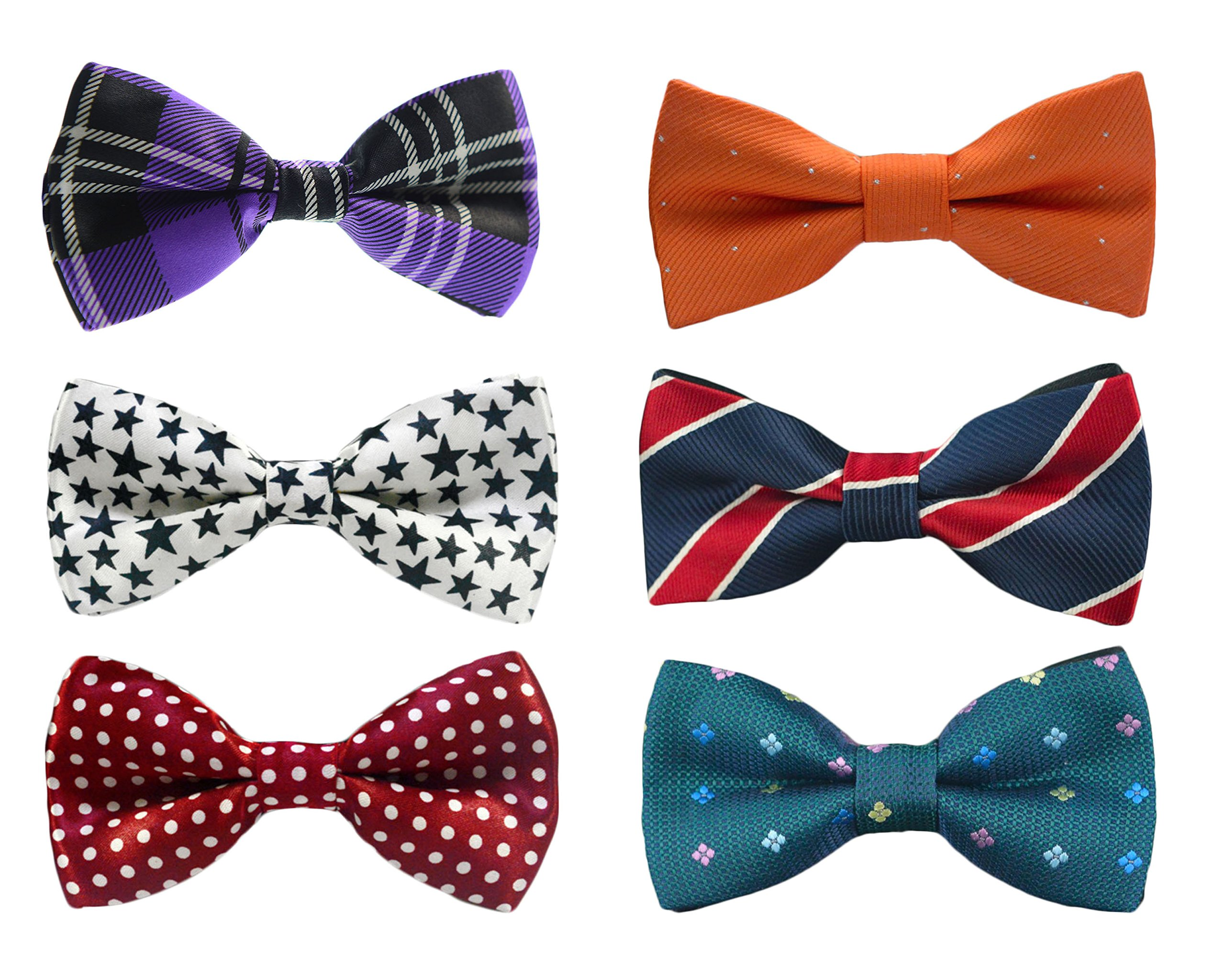 Tiger Mama 6in1 Adjustable Boys Bow Tie Collection (SET-01)
