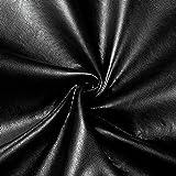 Plastex Fabrics Faux Leather Buffalo Black Fabric