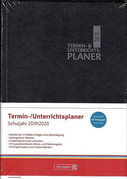 Brunnen - Agenda para profesores (A5+, curso 2019-2020, 24 x ...