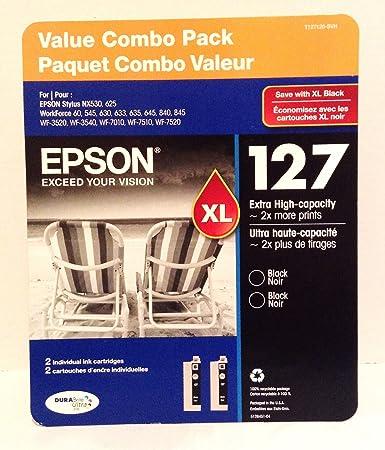 Amazon.com: Epson 127 Valor Combo Pack – 2 Pack de cartuchos ...