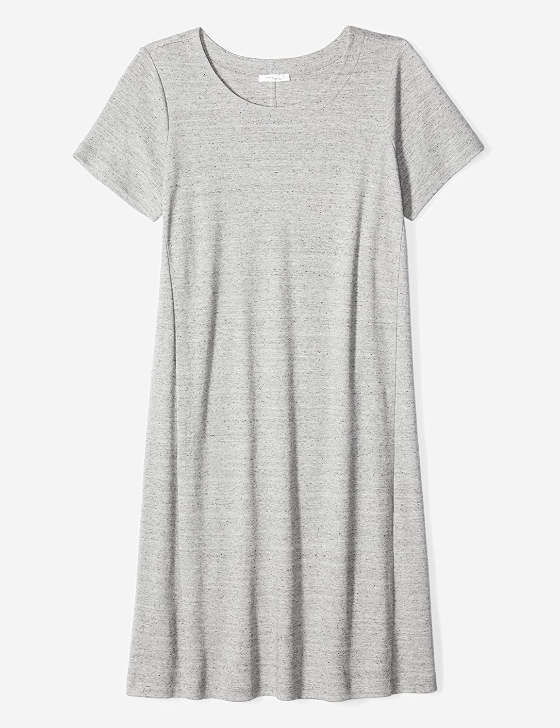 547a46b644dd Amazon.com  Daily Ritual Women s Plus Size Pima Cotton and Modal  Short-Sleeve Scoop Neck Dress  Clothing