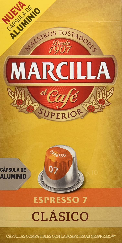 Marcilla Café Espresso Clásico Intensidad 7-10 Cápsulas: Amazon.es: Amazon Pantry