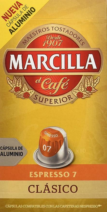 MARCILLA Café Espresso Clasico Intensidad 7 - 10 Cápsulas de ...