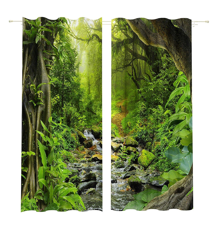 Lemare Vorhang Blickdicht Digitaldruck Waldbach 2X 145x260 cm