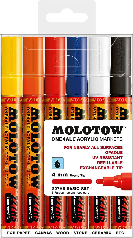 MOLOTOW un 4 tous 227-10 pièce dessin marqueur Set-Basic Set 2