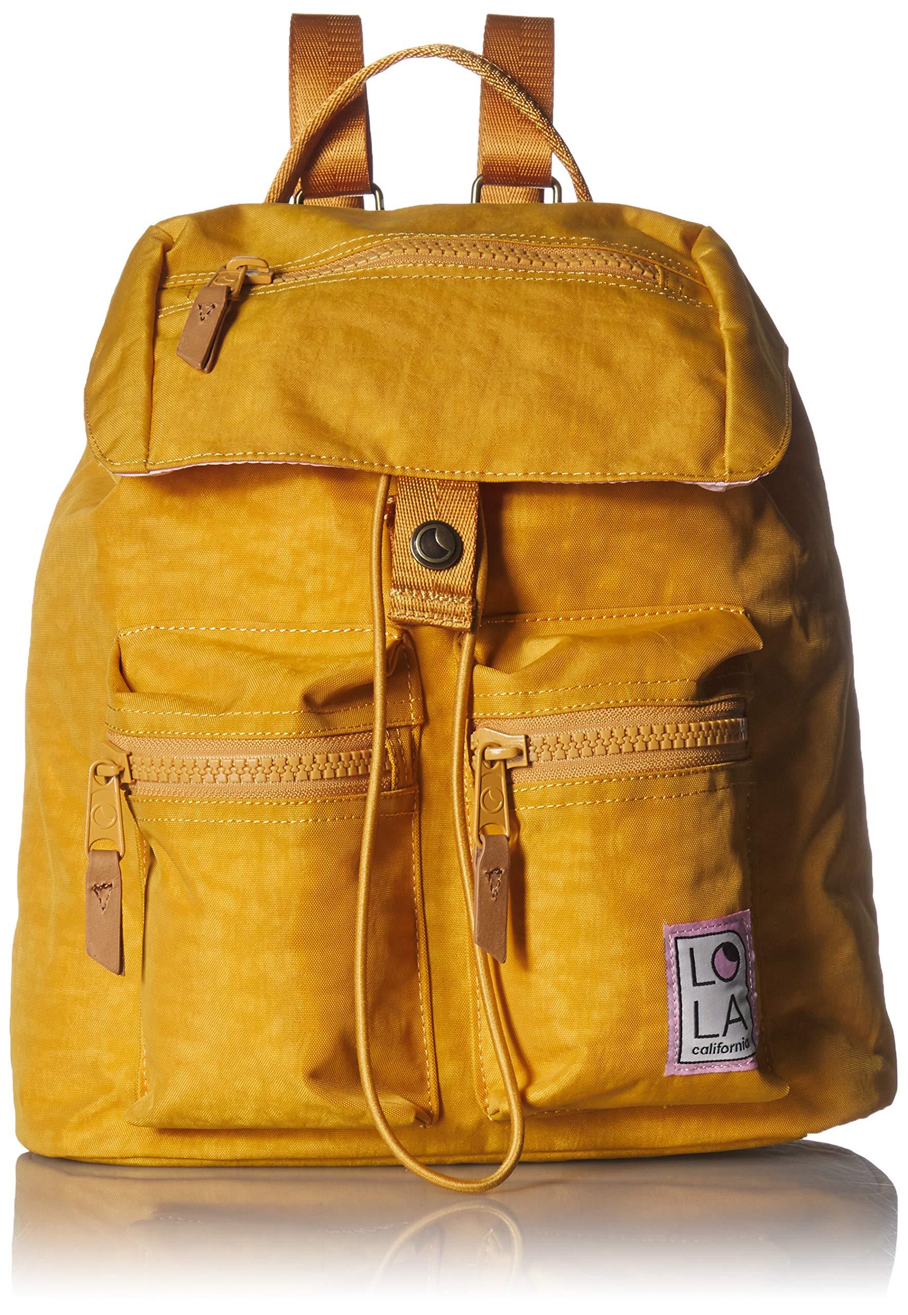 LOLA Mondo Phantasm Large Drawstring Backpack, Ochre