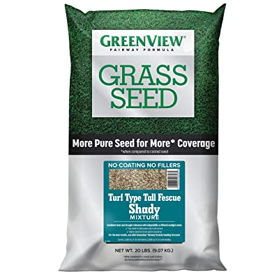 GreenView 2829351 Fairway Formula Grass Seed Turf Type Tall Fescue Shady Mixture, 20 lb: Garden & Outdoor