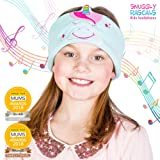 Snuggly Rascals (v.2) Kids Headphones - Headphones for Kids - Ultra-Comfortable, Size Adjustable and Volume Limited; Great for Travel & Use with Children's Tablets and Smartphones. Suitable for Girls and Boys. Fleece Version - Unicorn