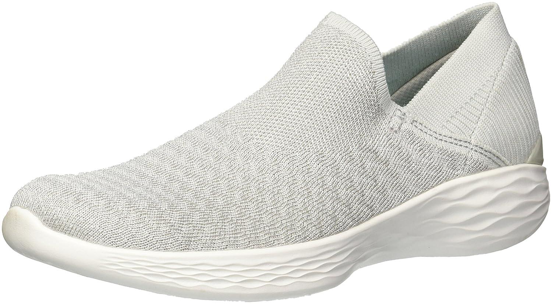 Skechers Women's You-14959 Sneaker B072QZRJSS 10.5 B(M) US|Silver