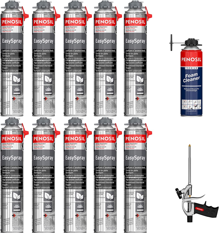 Espuma expansiva de poliuretano Projetable 700 ml – Lote de 10 + 1 ...