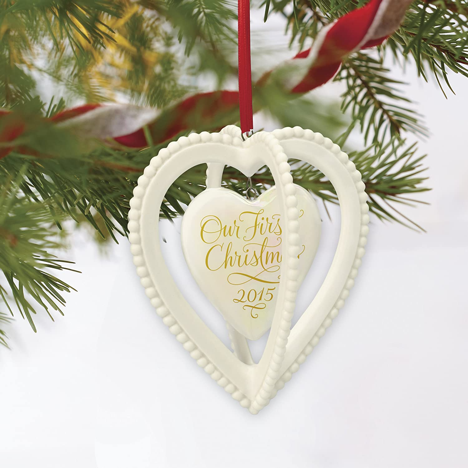 Amazoncom Hallmark Keepsake Ornament Our First Christmas