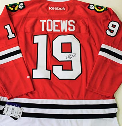 e04d2be78 Autographed Jonathan Toews Jersey - XL w COA Red - Autographed NHL Jerseys