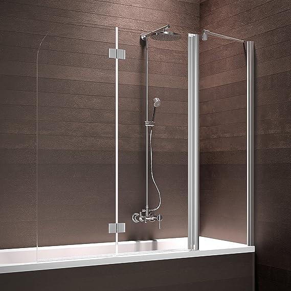 Schulte – Mampara Mampara de bañera 3 piezas con fijo Element ...